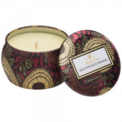 """Voluspa"" Petite Decorative Tin Candle - Goji Tarocco Orange - Style #7211"