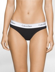 Calvin Klein Modern Cotton Thong - Black