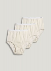 Jockey Plus Size Classic 100% Cotton Full Size Brief - 3 pack Style #9483 - Ivory
