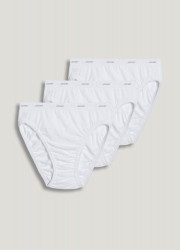Jockey Plus Size Classic French Cut Cotton Ladies Briefs - 3 pack Style #9481 - White