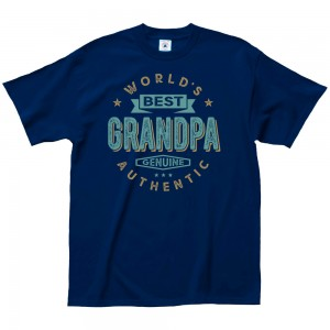 Father's Day Tee - World's Best Grandpa - Navy