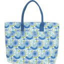 Canvas Carryall Tote - Melons Sky