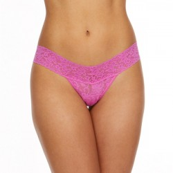 Hanky Panky Signature Lace Low Rise Thong Style #4911 - Raspberry Ice