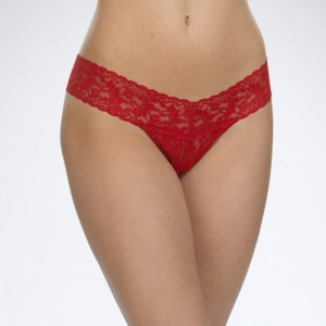 Hanky Panky Signature Lace Low Rise Thong Style #4911 - Red