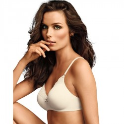 Maidenform Comfort Devotion No Wire Demi Bra with Lift #9456 - Ivory Shell
