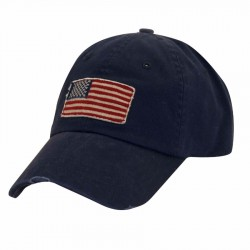 DPC Flag Patch Cotton Twill Cap Style #USA35 - Navy
