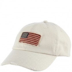 DPC Flag Patch Cotton Twill Cap Style #USA35 - Putty