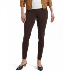 Hue Wide Waistband Blackout Cotton Legging - Espresso
