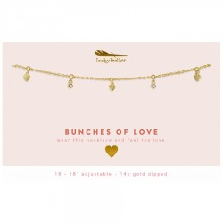 Lucky Feather 14K Gold Dipped Necklace - Bunches of Love