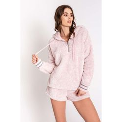 PJ Salvage Cozy Hoodie - Rose Quartz