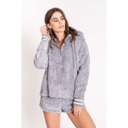 PJ Salvage Cozy Hoodie - Heather Grey