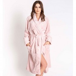 PJ Salvage Luxe Plush Robe - Rose