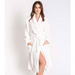PJ Salvage Luxe Plush Robe - Ivory