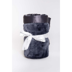PJ Salvage Luxe Plush Blanket - Charcoal