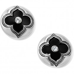 Brighton Toledo Black Enamel Post Earrings