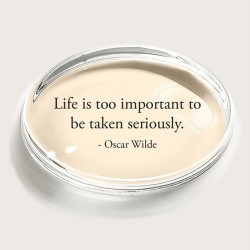 Bens Garden Paperweight - Oscar Wilde Quote