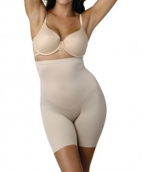 Miraclesuit® Flexible Fit Hi-Waist Thigh Slimmer - Nude