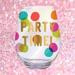 Jumbo Stemless Wine Glass  30 oz glass - Party Time
