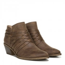 Lifestride Prairie Block Heel Bootie - Brown