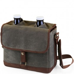 Double Growler Tote - Khaki Green