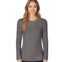 Cuddl Duds Fleecewear with Stretch Top - Charcoal Heather