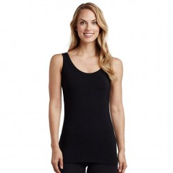 Cuddl Duds Softwear with Stretch Reversible Tank - Black
