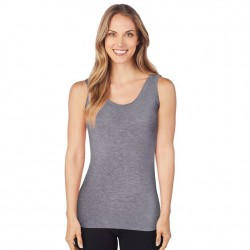 Cuddl Duds Softwear with Stretch Reversible Tank - Charcoal Heather