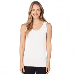 Cuddl Duds Softwear with Stretch Reversible Tank - White