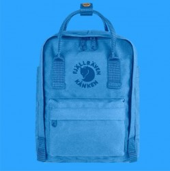 Fjallraven's Special Edition Mini Backpack Made of Recycled Bottles - Blue