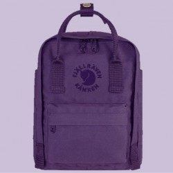 Fjallraven's Special Edition Mini Backpack Made of Recycled Bottles - Purple