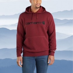 Carhartt's Graphic Hooded Pullover - Red Brown Heather