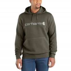 Carhartt's Graphic Hooded Pullover - Moss Heather