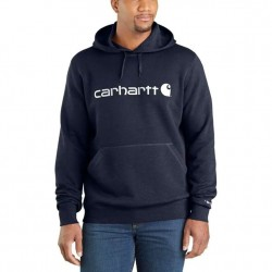 Carhartt's Graphic Hooded Pullover - Navy Heather
