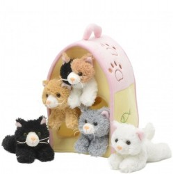 "12"" Plush House with 5 Kittens"