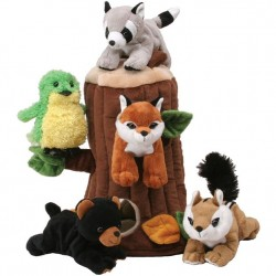 "12"" Plush Tree House with 5 Forest Animals"