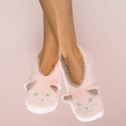 Faceplant Dreams Pink Cat Slippers