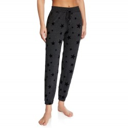 PJ Salvage Slate Grey Star Print Jogger