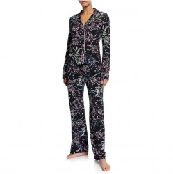 PJ Salvage Classic Pajama Set - Black Floral