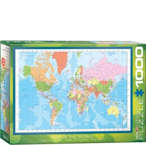 Eurographics Puzzle - 1000 pc World Map