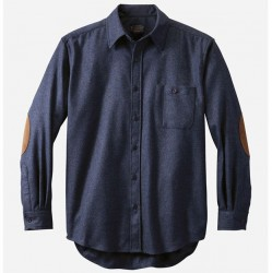 Pendleton Trail Shirt with Elbow Patch - Navy Mix