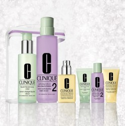 Clinique 7 pc Gift Set - 3-Step Skin Care Dry
