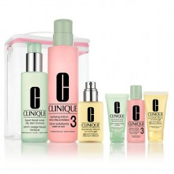 Clinique 7 pc Gift Set - 3-Step Skin Care Oily Combo