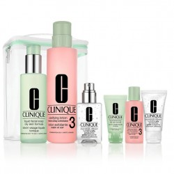 Clinique 7 pc Gift Set - 3-Step Skin Care Oily