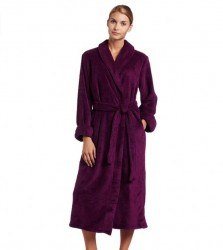Casual Moments Plush Robe - Purple