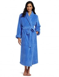 Casual Moments Plush Robe - Blueberry