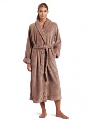 Casual Moments Plush Robe - Coffee