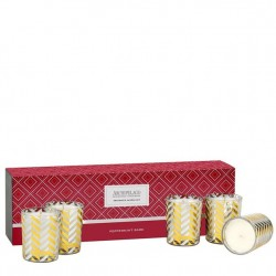 Archipelago Limited Edition Candle Box of 5 Votives - Peppermint Bark