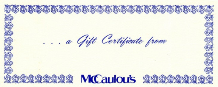 Free Shipping on all Gift Certificates