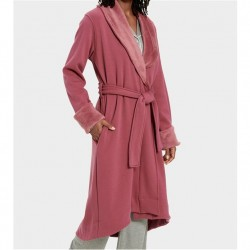 Ugg Double Knit Fleece Robe - Bougainvillea