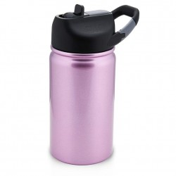 SIC Cups 12 oz Lil Sic Hot/Cold Bottle - Pink Glitter